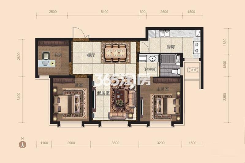 95平米3室2厅1卫