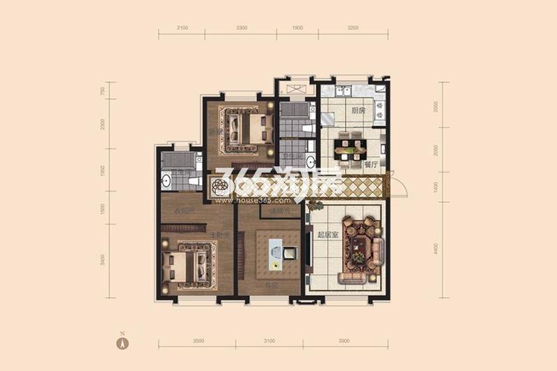 130平米3室2厅2卫