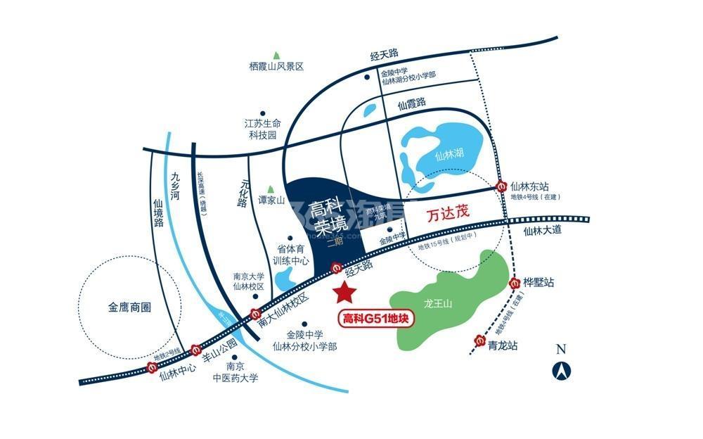 高科荣境交通图