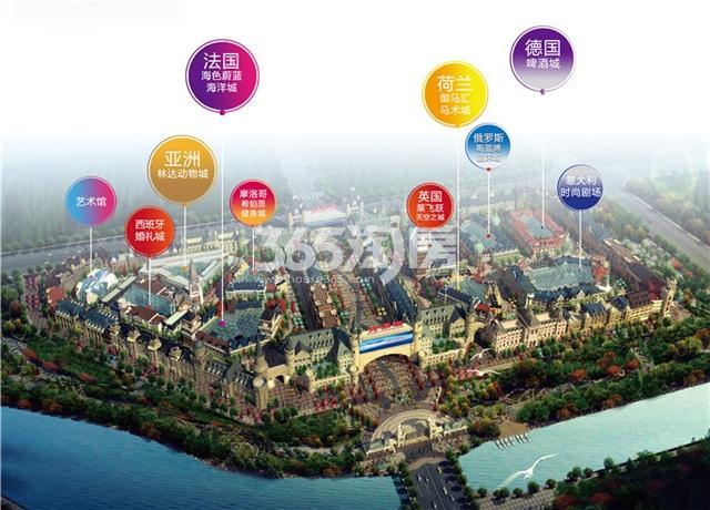 世界欢乐城鸟瞰图