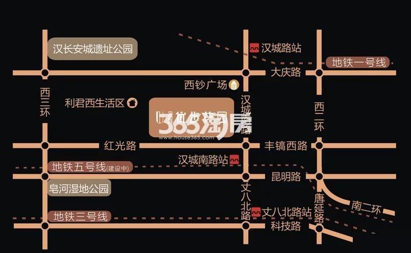 金辉优步花园交通图