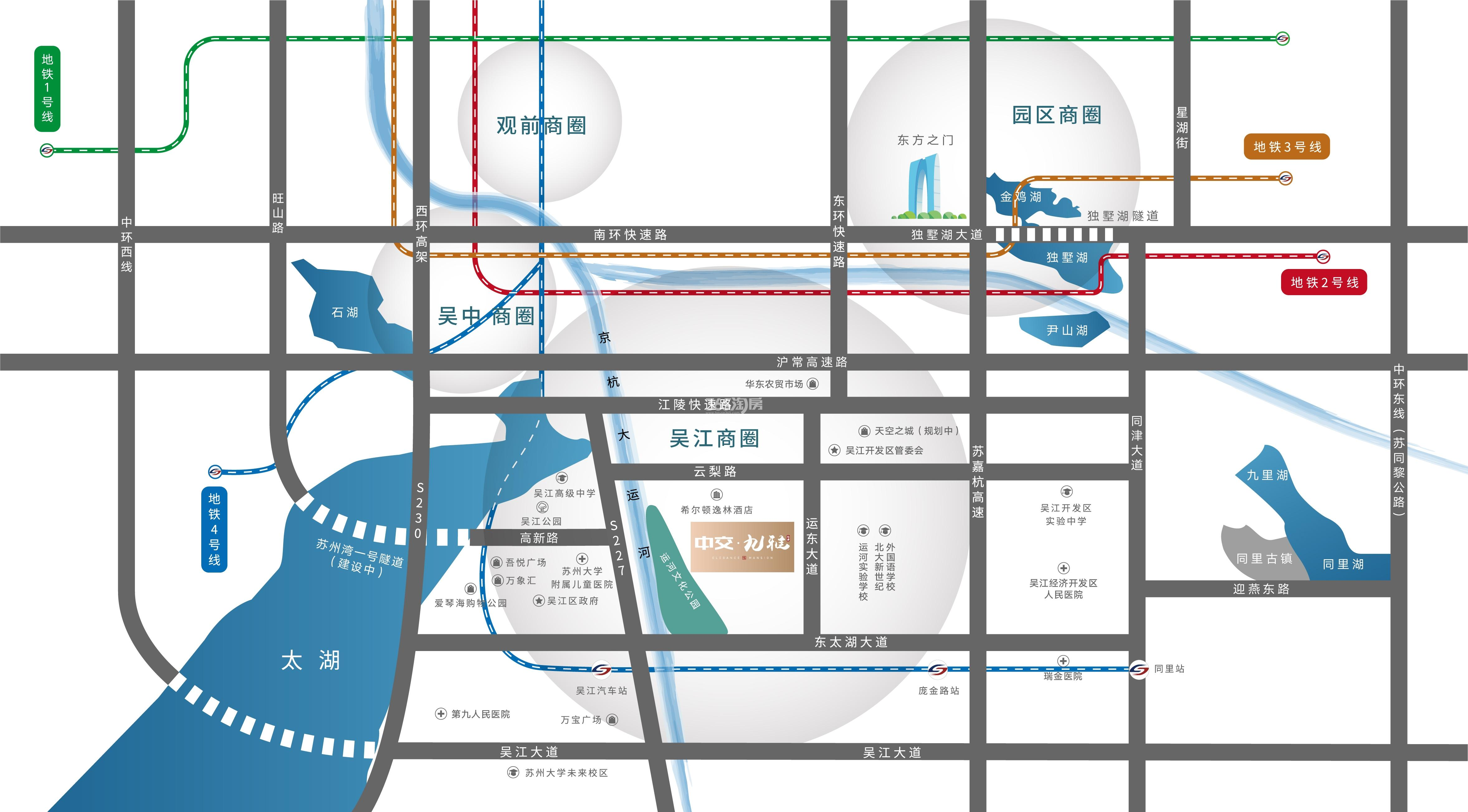 中交九雅花园交通图