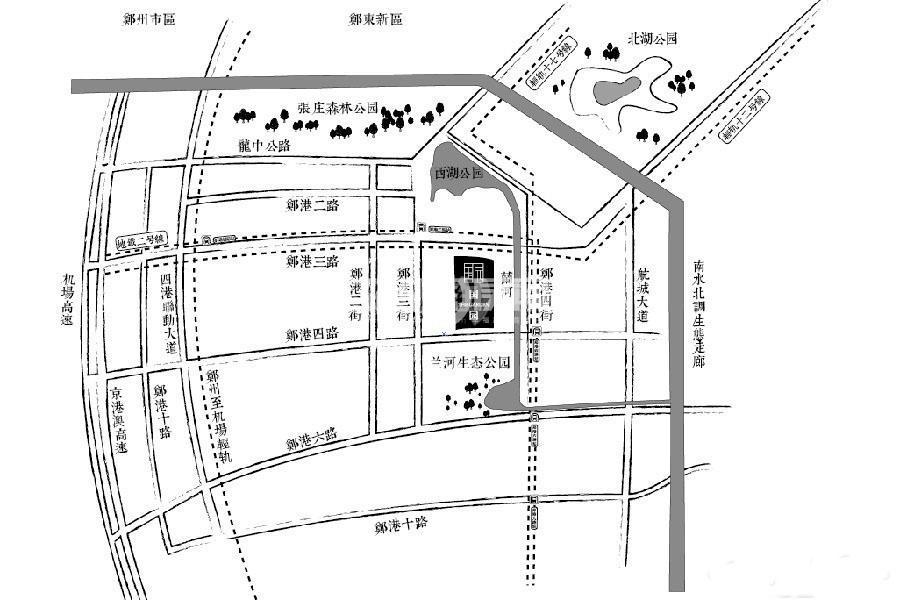 豫发大运城国园交通图