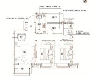 <font color=red>万科和昌金域东方</font>3室2厅1卫90.00平米整租精装