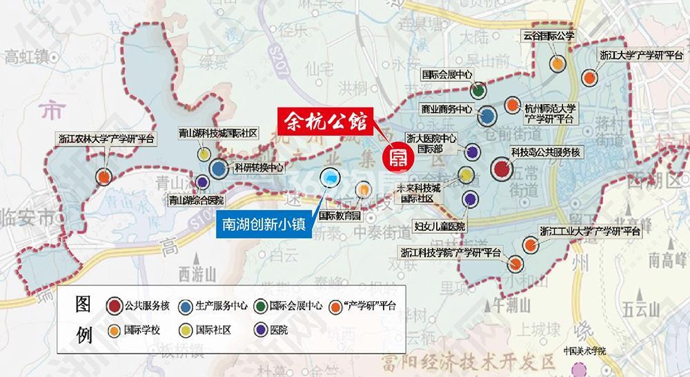 西房余杭公馆交通图