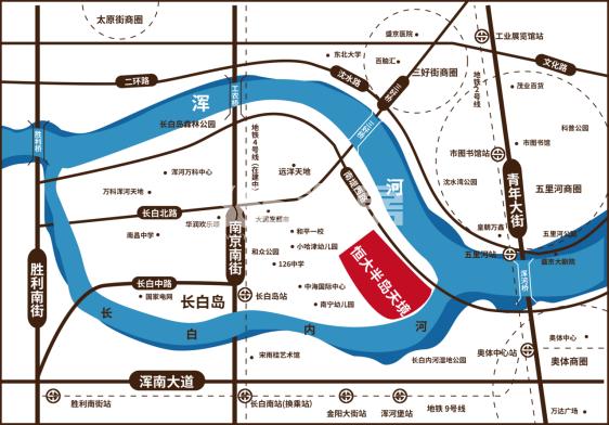 沈阳恒大半岛天境交通图