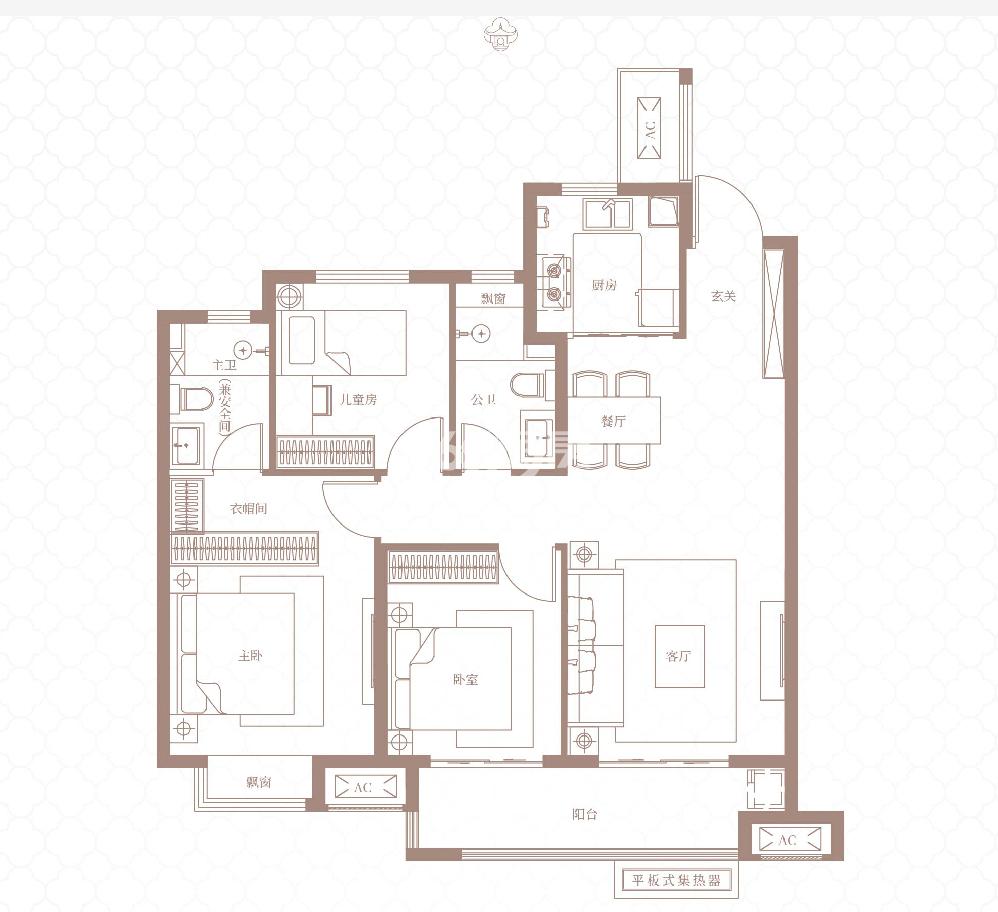 115平 三室两厅两卫