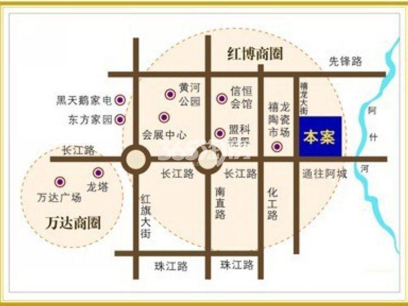 尚东辉煌城交通图