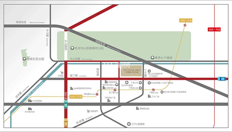 吟彩芳菲之城交通图