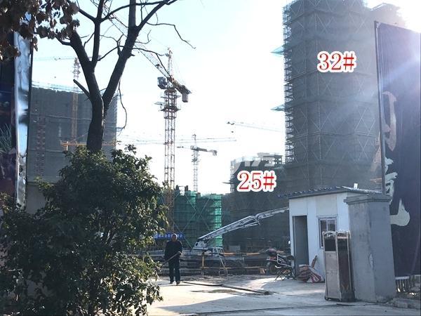 恒大观澜府高层32#楼、小高层25#楼实景图(2017.12 摄)