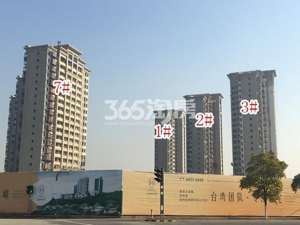 百和国际花园高层1-3#、7#楼实景图(2017.12 摄)