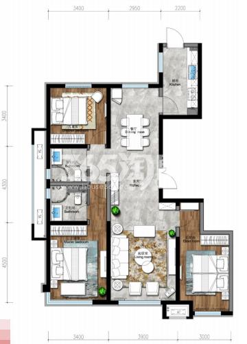 149平 三房两厅两卫