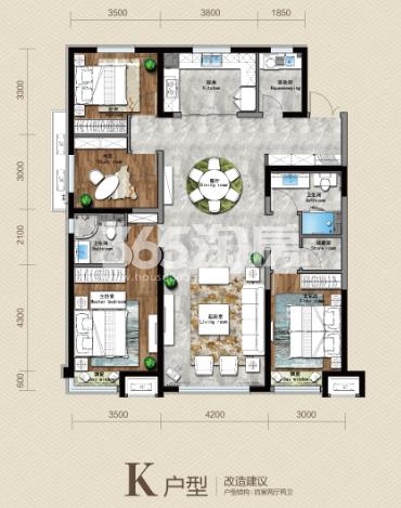 163平 四房两厅两卫