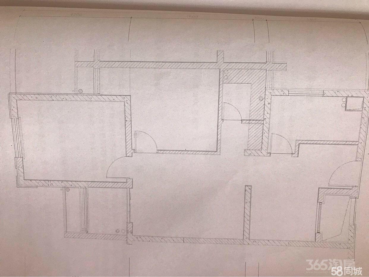 京东紫晶2室2厅1卫61.54平米毛坯使用权房2015年建