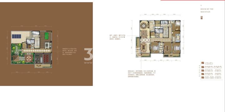 清凉山居334.08㎡(顶层)户型图