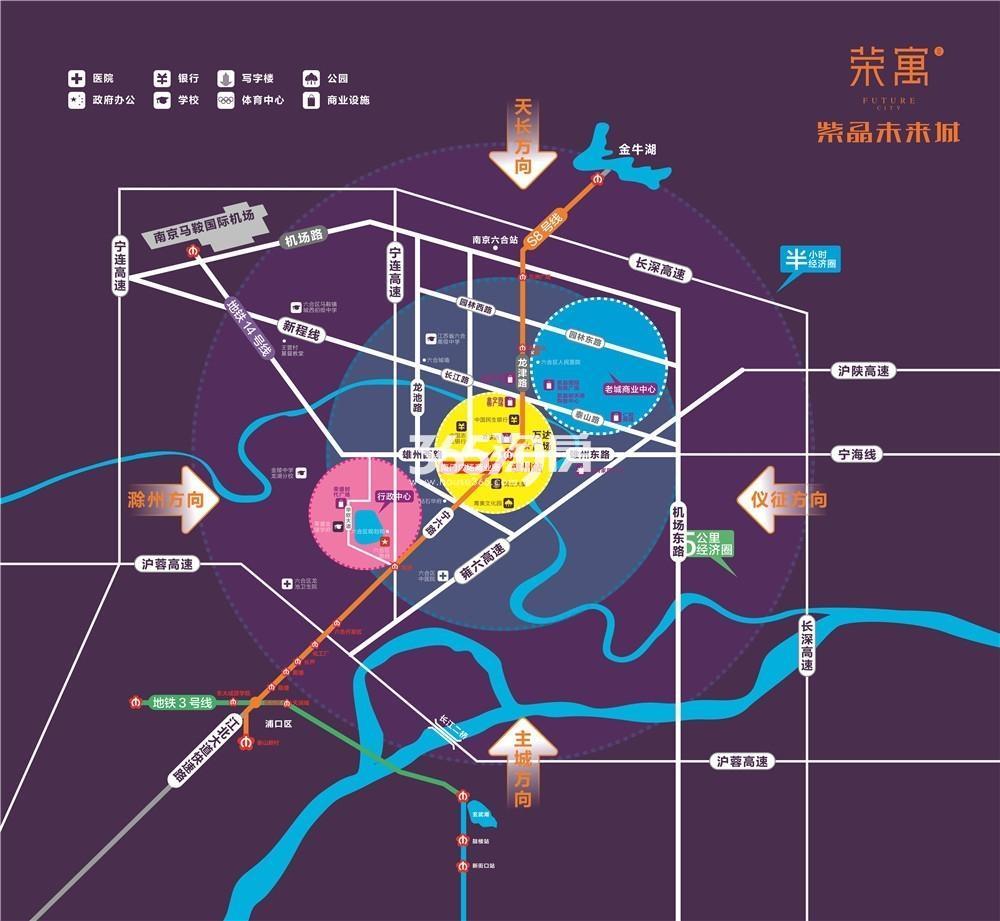 万达广场荣寓交通图