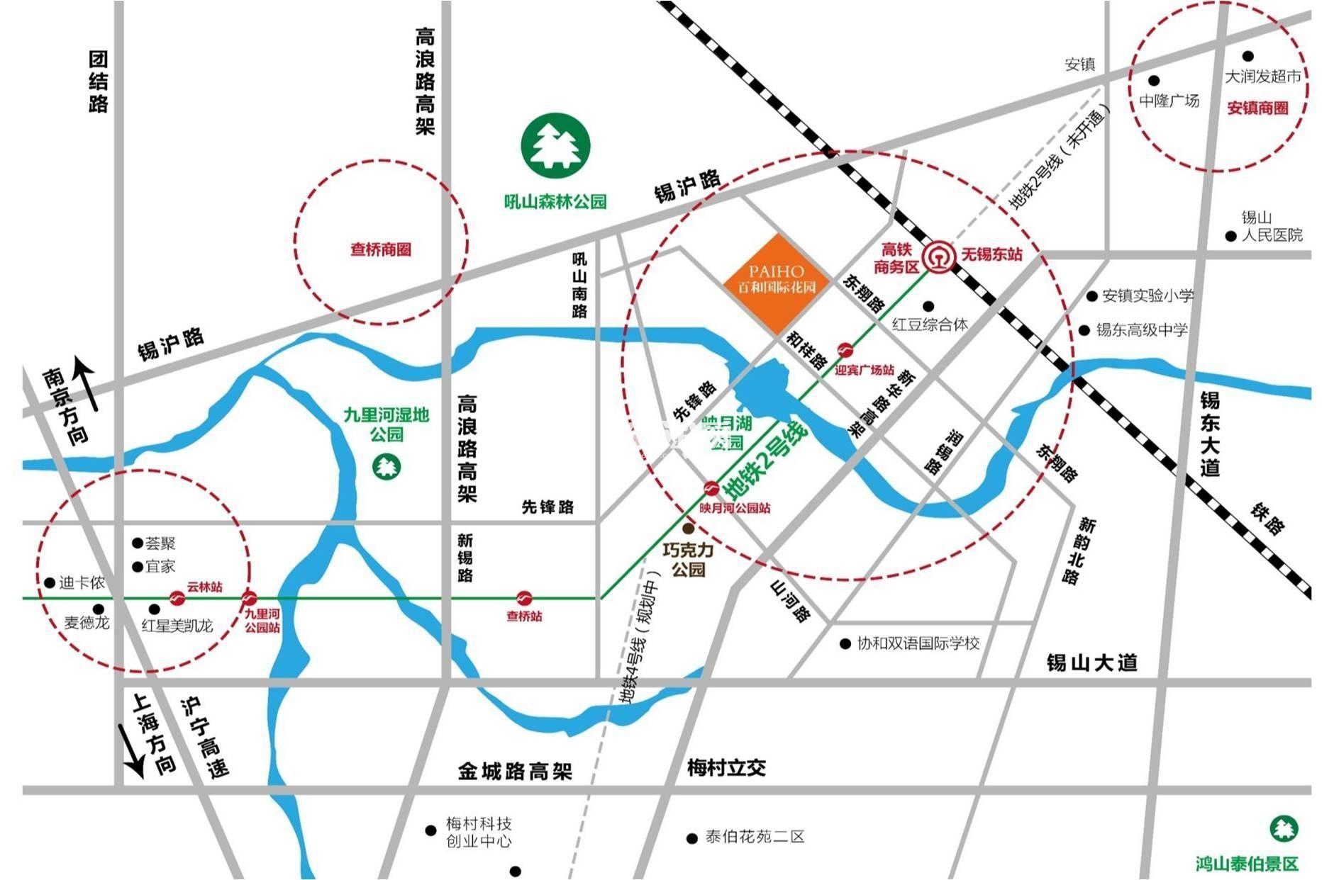 百和国际花园交通图
