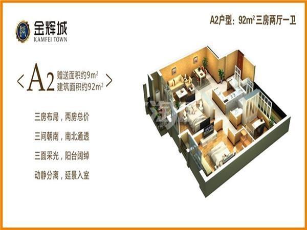 金辉城A2户型图