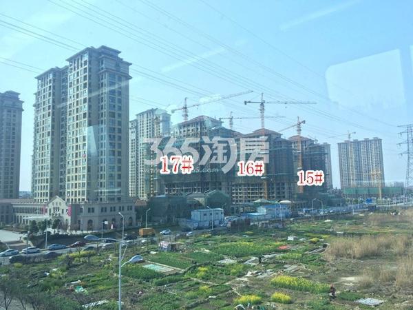 长泰国际社区南地块高层15-17#楼实景图(2018.4 摄)
