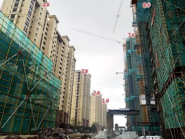 信德悦城8月1#2#3#4#7#8#工程进度图(2018.8摄)