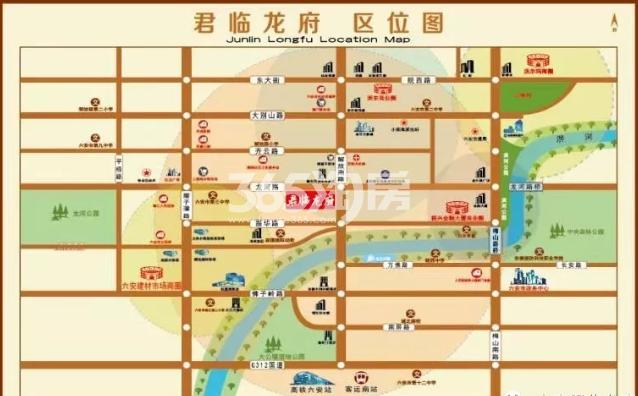君临龙府交通图