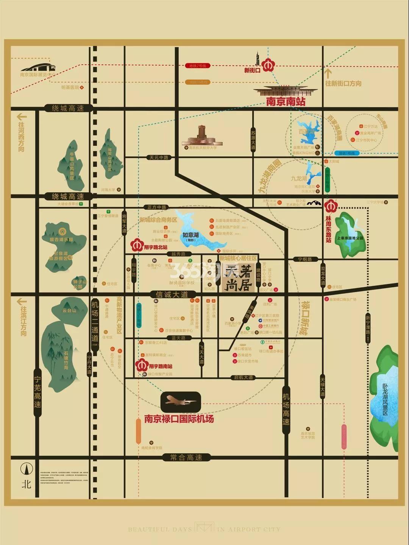 奥园金基天著尚居交通图