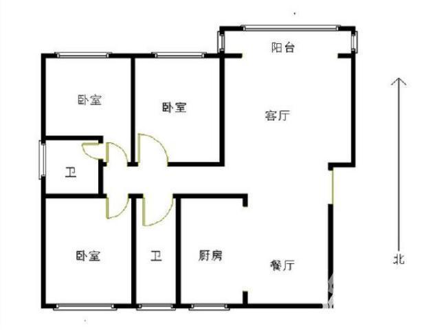 江山星汉城3室2厅2卫123.35平实用面积180平满两年
