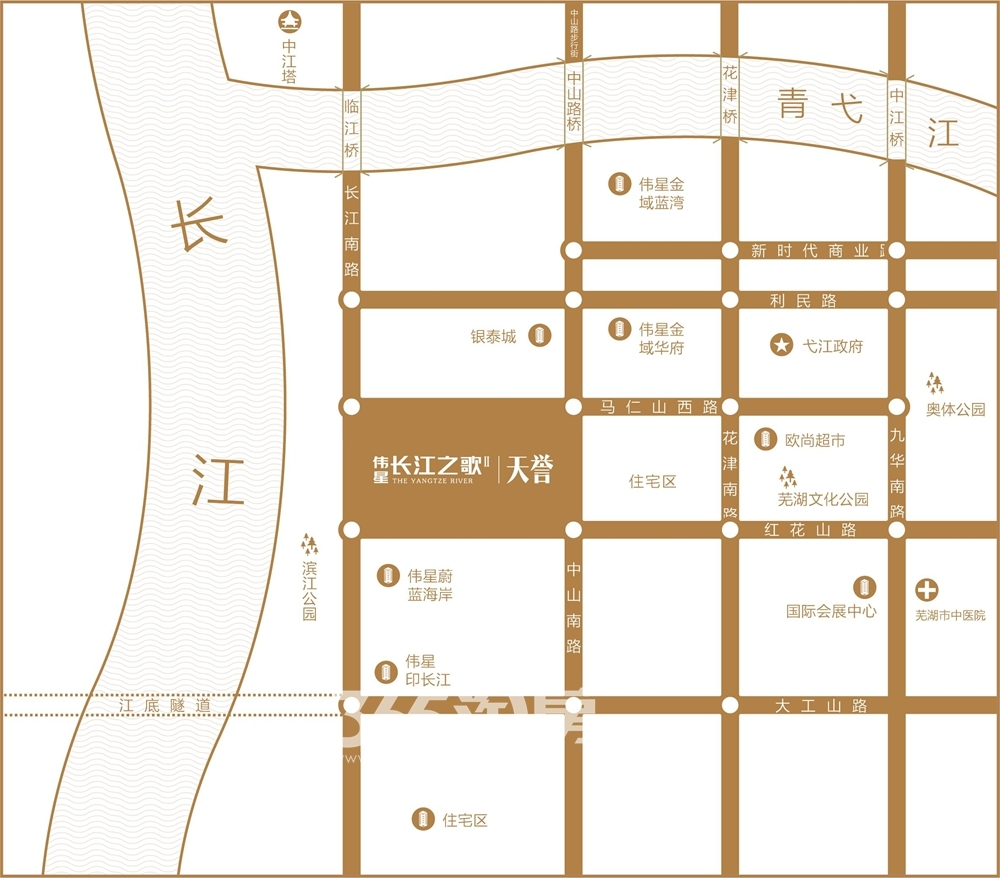 伟星长江之歌二期天誉交通图
