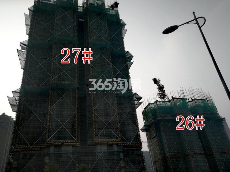 金色年华三期26#、27#工地实景图(10.17)