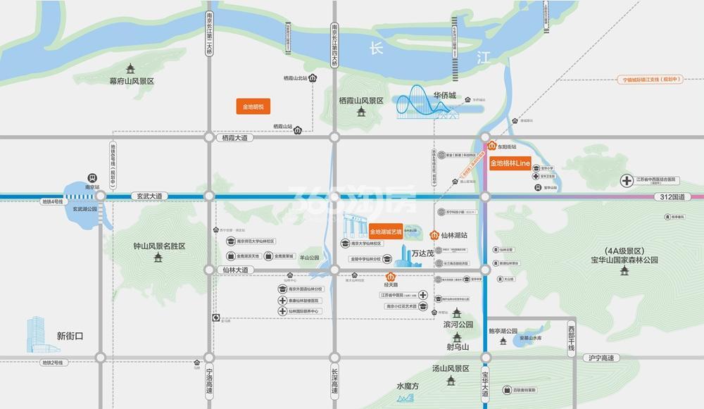 金地格林Line交通图