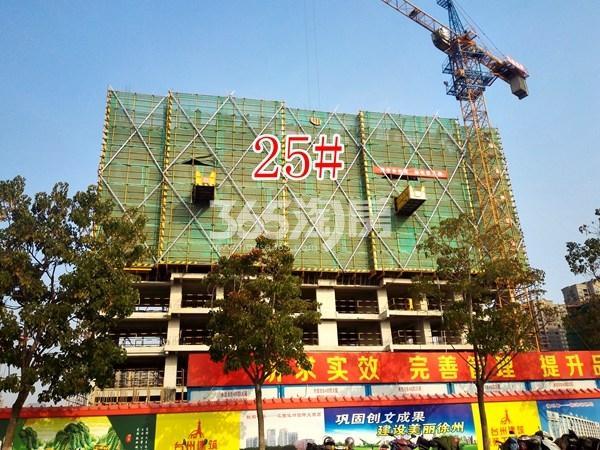 保利合景珑湾25#工地实景图(11.14)
