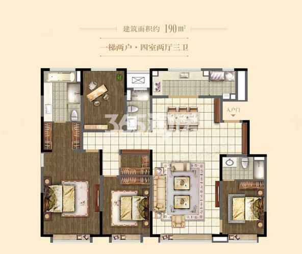 洋房190㎡ 4室2厅3卫