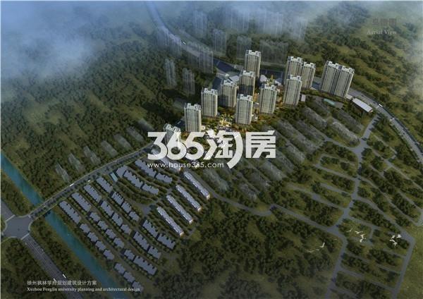 枫林学府鸟瞰图
