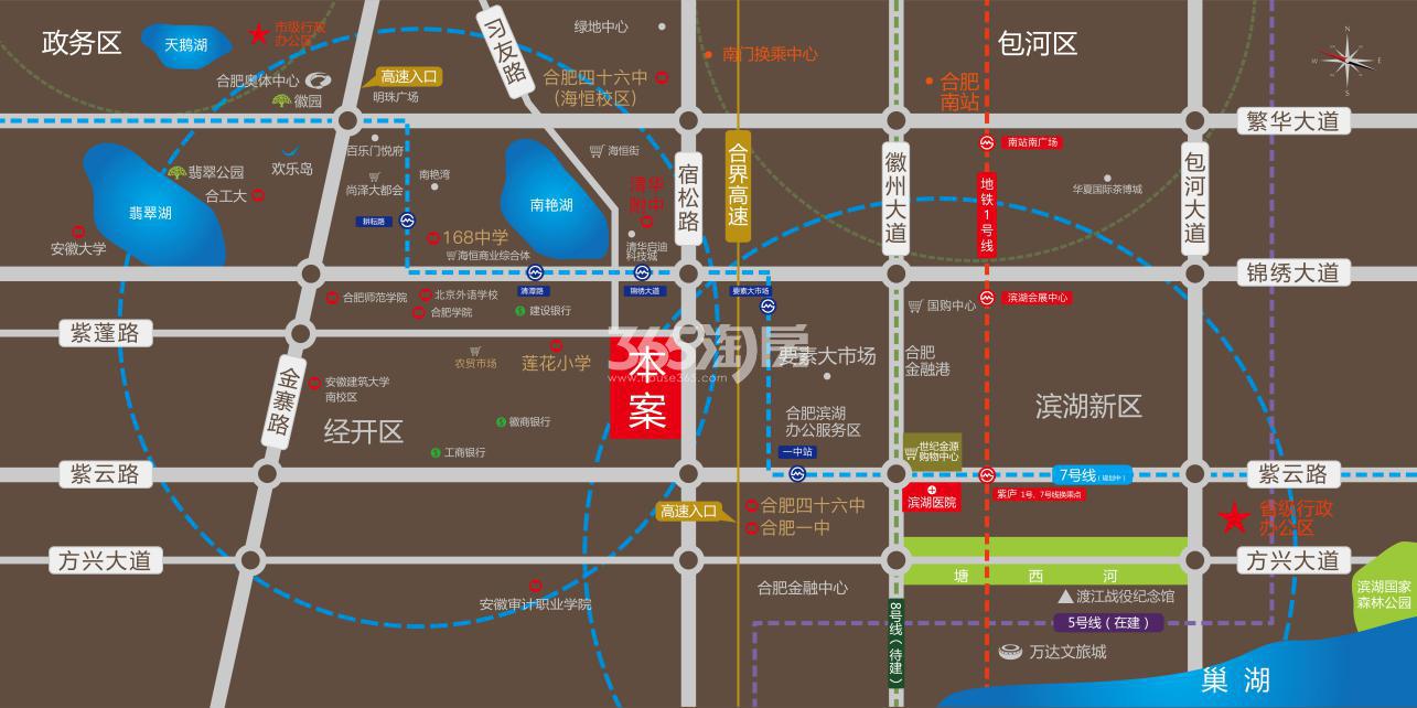 邦泰科技城交通图