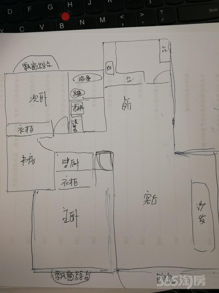 万振逍遥苑3室2厅112平整租中装个人长租价优