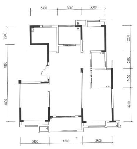 杭钢尚堂府8号楼2单元01室户型(标准层) 138㎡
