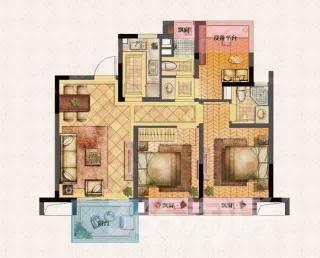 世茂荣里3室2厅2卫88平米毛坯产权房2017年建