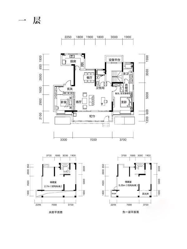 望江台Y30户型356㎡之一层房型