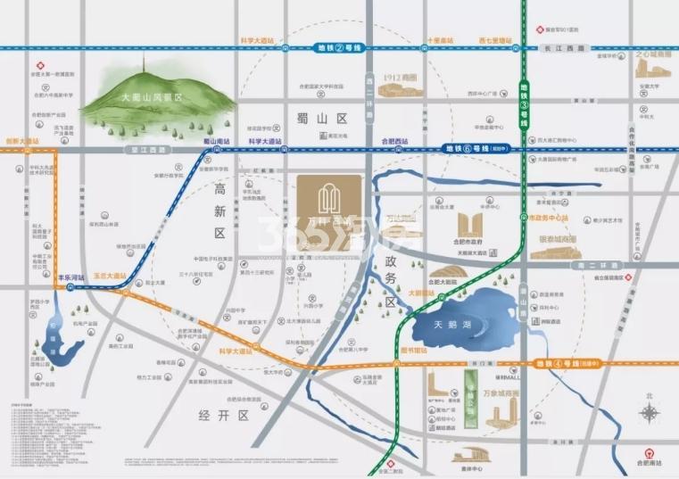 万科·高第交通图