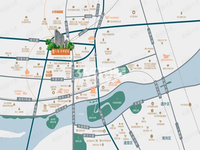 天成·溪树庭院交通图