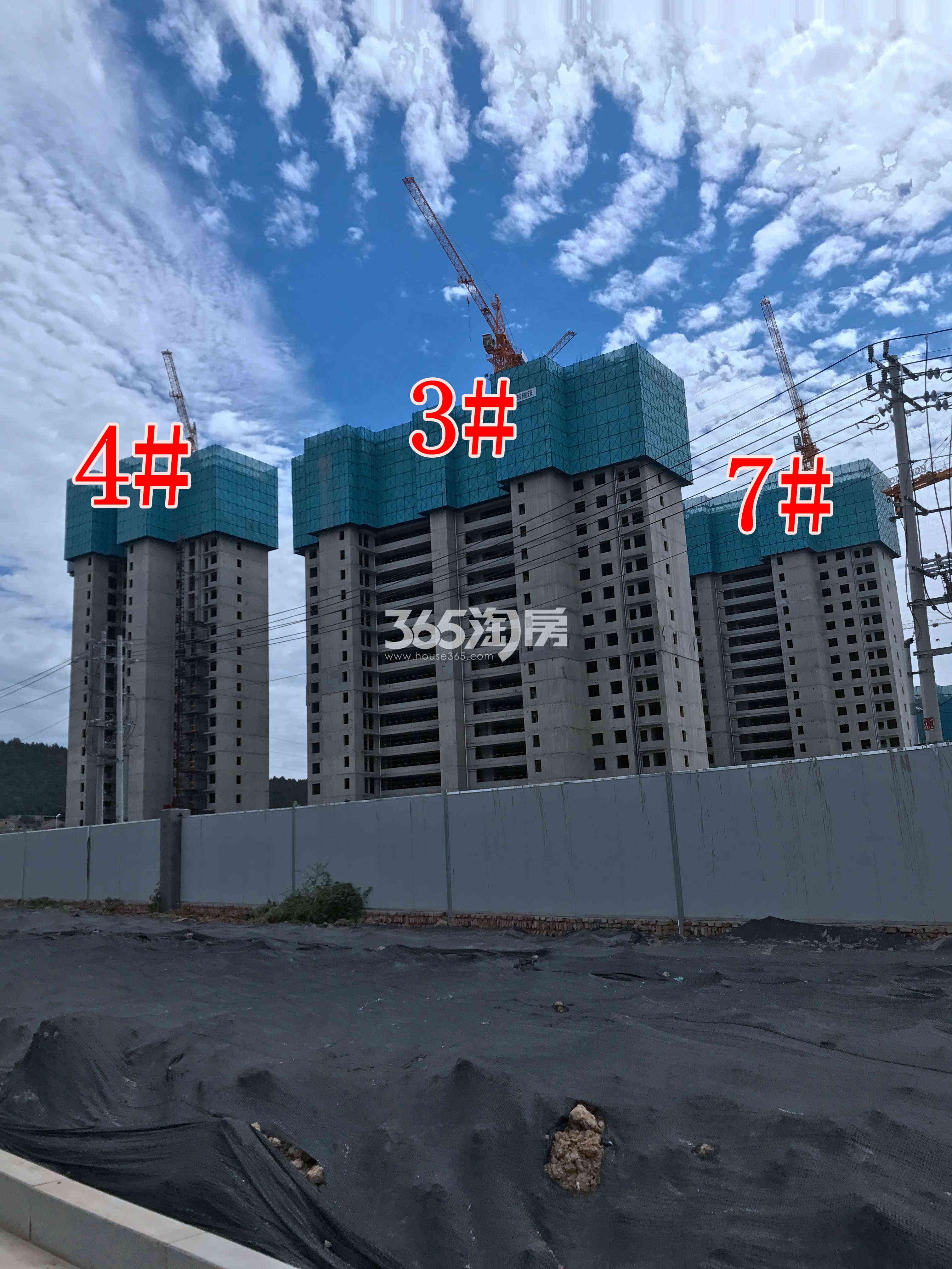 万科翡翠湖山3、4、7#楼工地实景图(10.25)