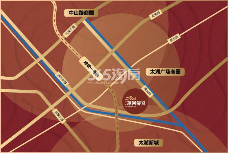 万科运河传奇交通图