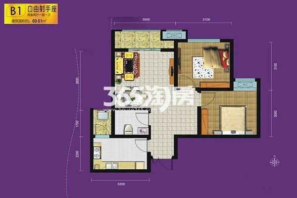紫园sunny——B1户型图