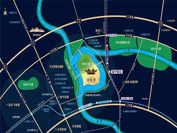 电建地产洺悦府交通图