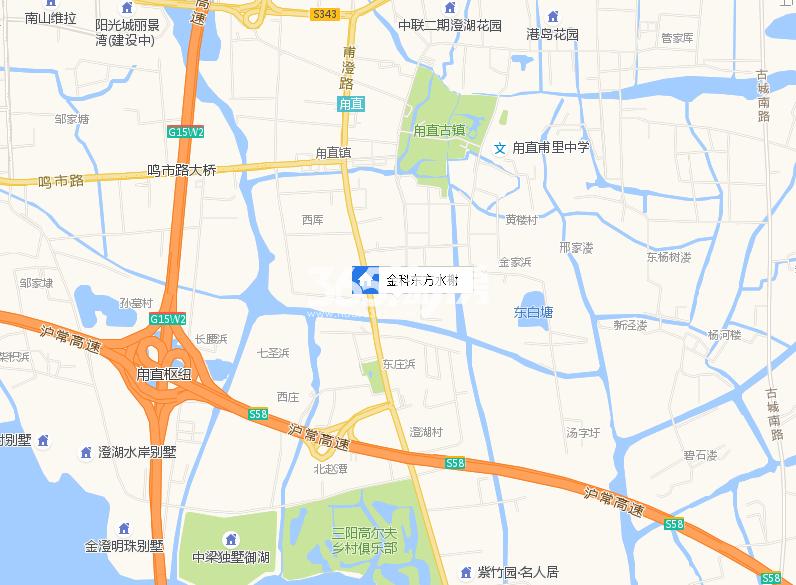 金科东方水榭交通图