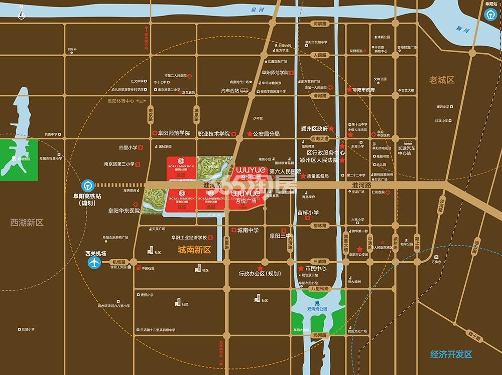 吾悦公馆交通图