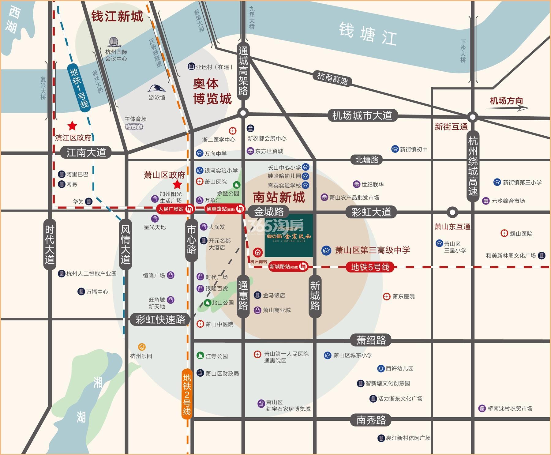 金宸玖和府交通图