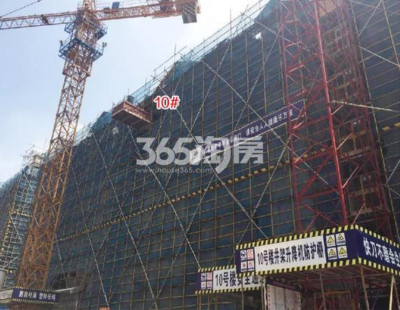中国铁建西湖国际城10号楼施工进程(2018.8)