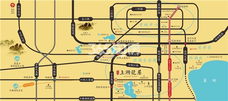 新滨湖上湖龙居交通图