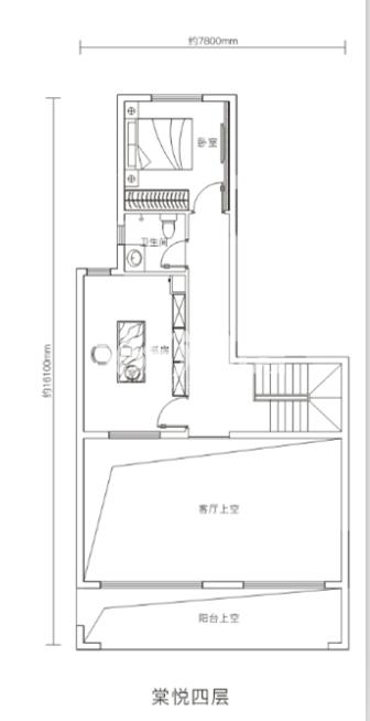 万科悦湾180㎡复式洋房四层户型图